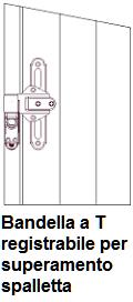 ferramenta scuro dogato - bandelle a T registrabile per superamento spalletta